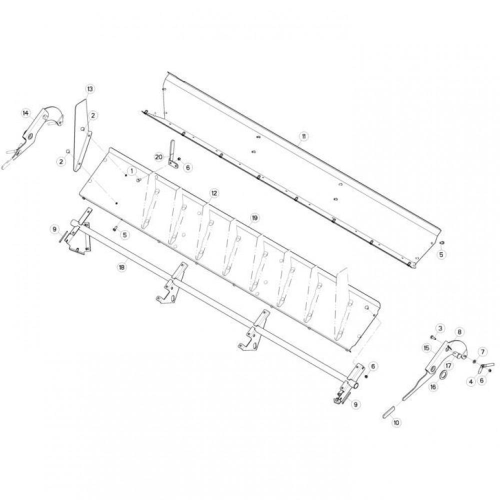 19 Deflectorset passend voor KUHN FC3160TLD