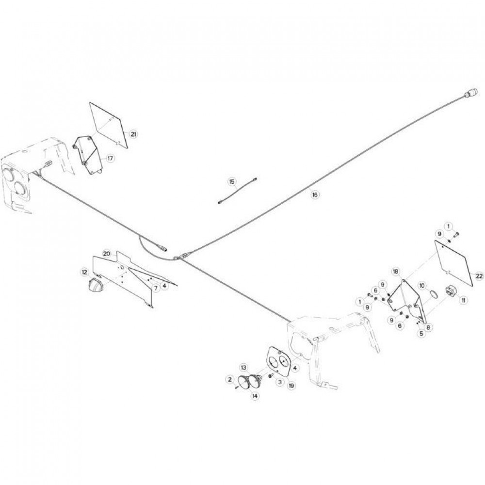 22 Verlichting 1 passend voor KUHN FC3160TLD