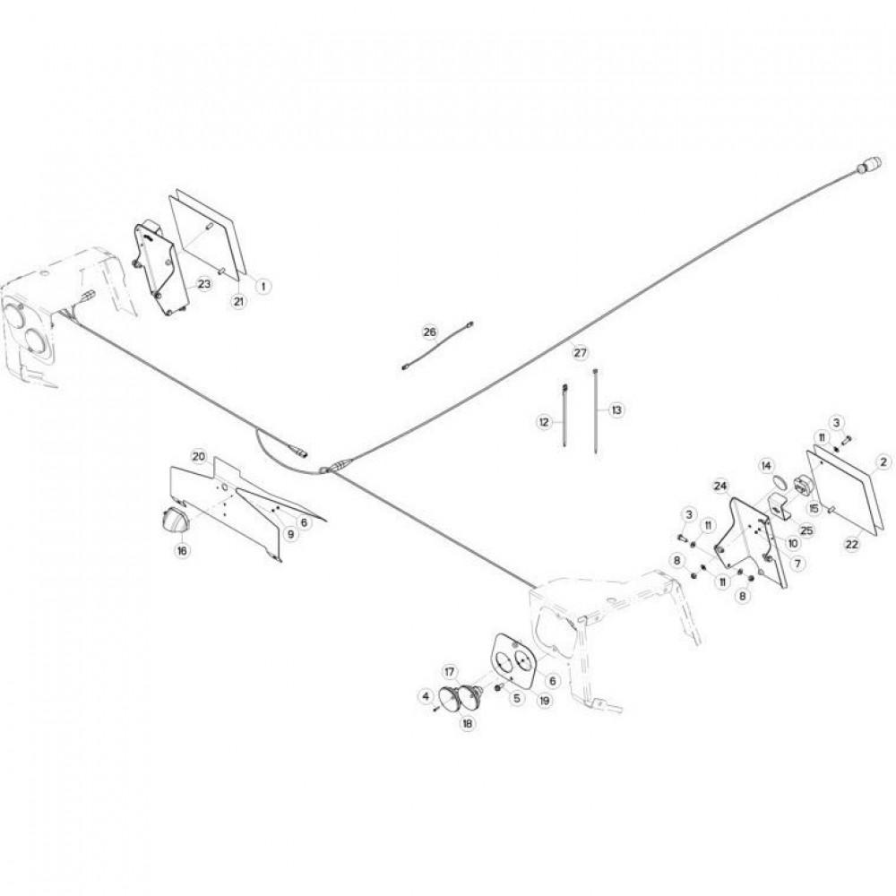 23 Verlichting 2 passend voor KUHN FC3160TLD
