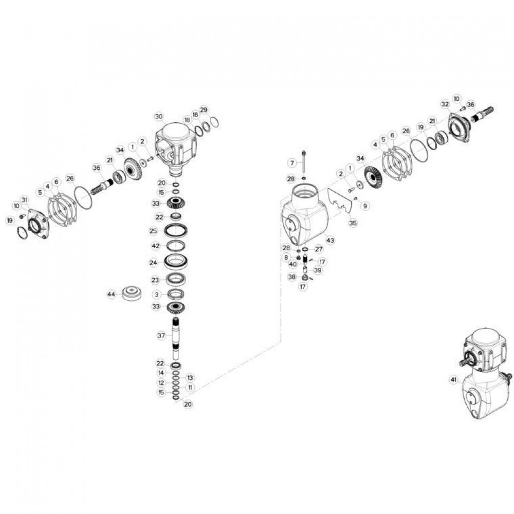 02 Gyrodine tandwielkast passend voor KUHN FC3160TLR