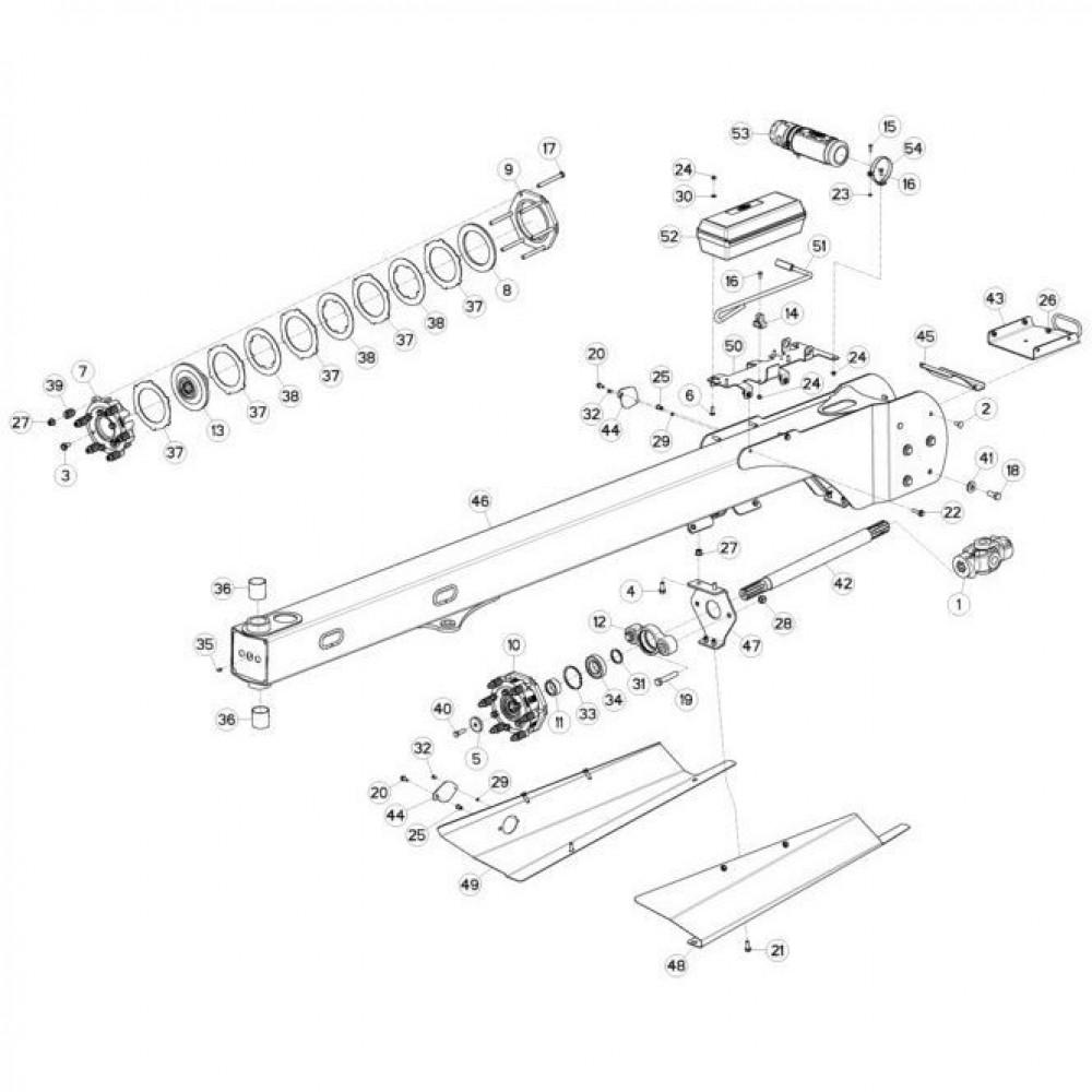 03 Trekstang passend voor KUHN FC3160TLR
