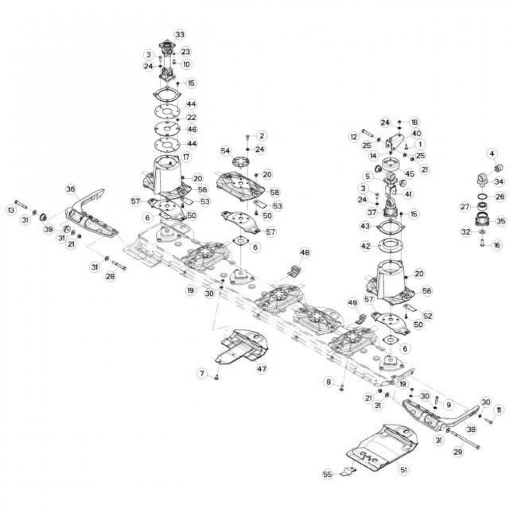 08 Schijven, beschermingen en glijplaten passend voor KUHN FC3160TLR