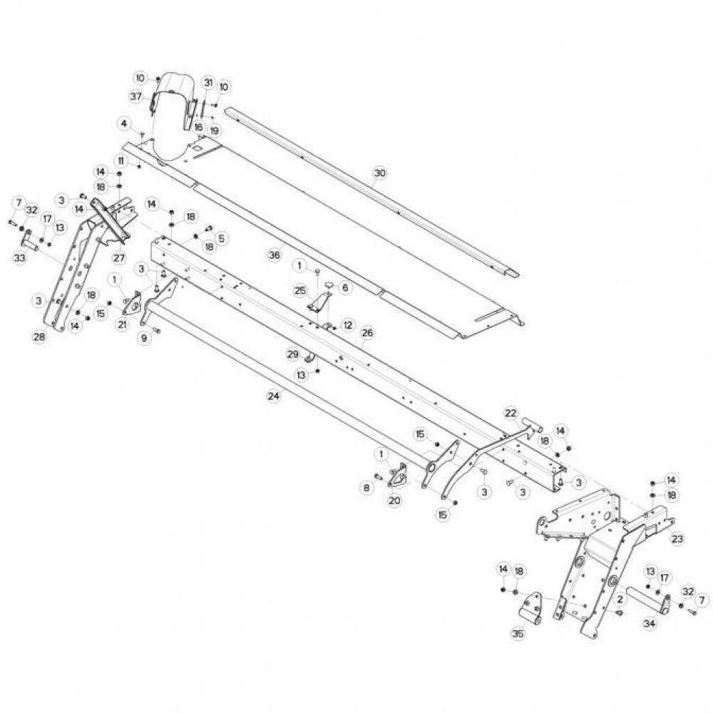 10 Frame 2 passend voor KUHN FC3160TLR