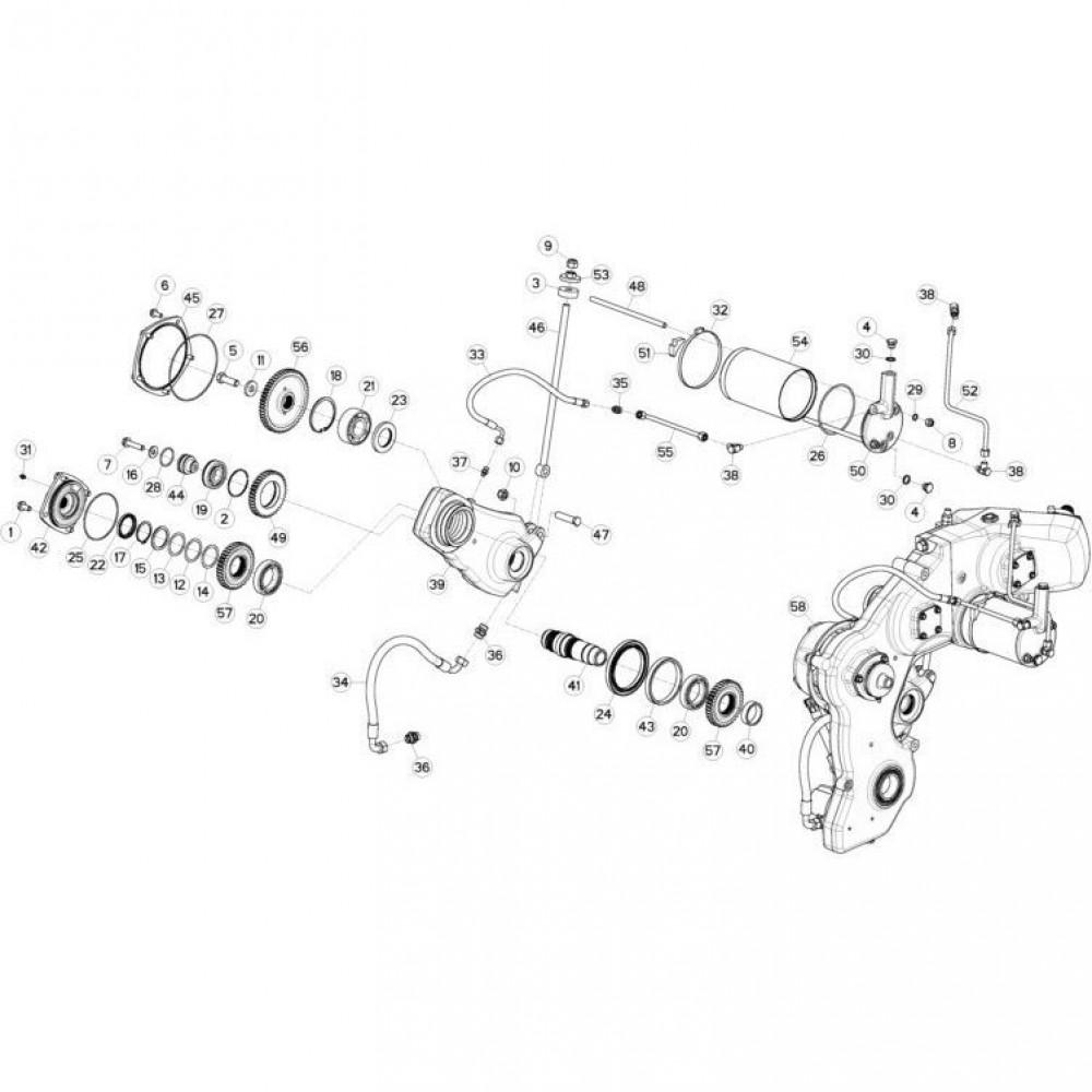 12 Tandwielkast, zijkant 2 passend voor KUHN FC3160TLR