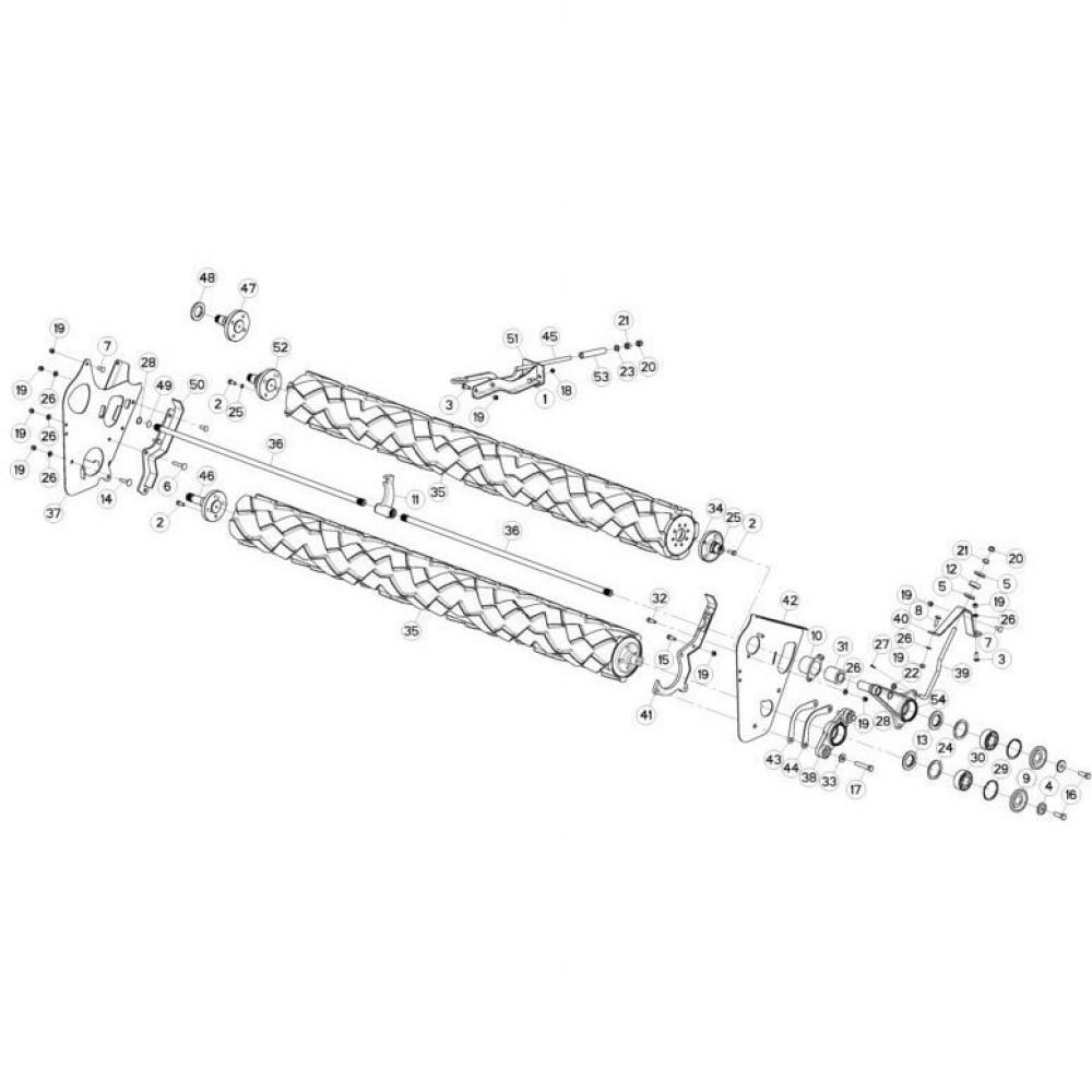 14 Rollen passend voor KUHN FC3160TLR