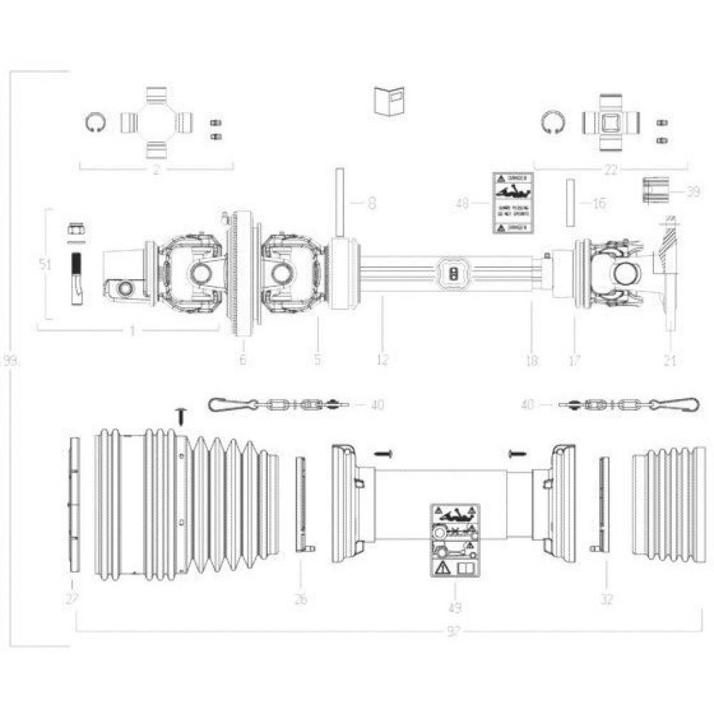 29 Transmissie 3 passend voor KUHN FC3160TLR