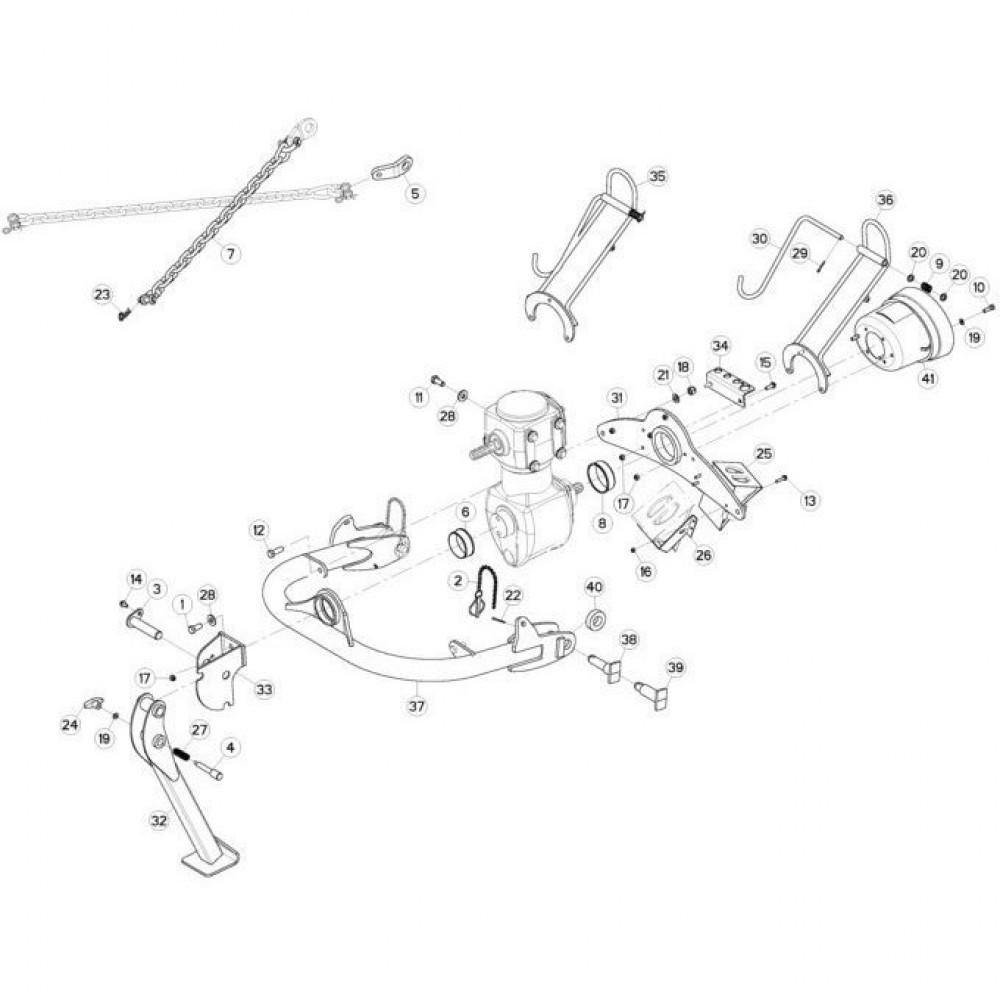 01 Trekhaak passend voor KUHN FC3160TLR