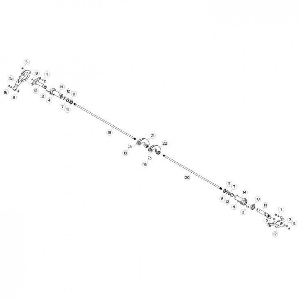 05 Ophangingssysteem passend voor KUHN FC3160TLR