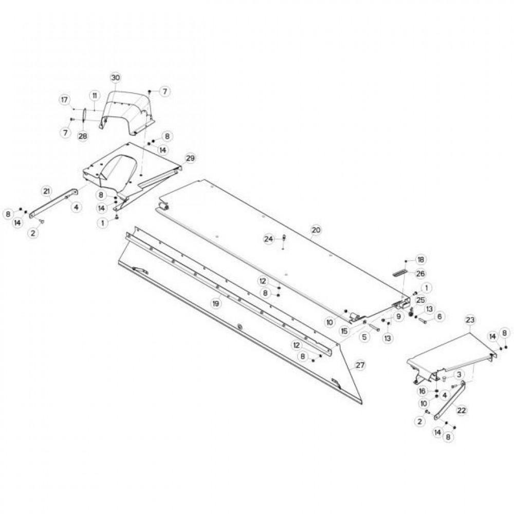 15 Schermbeugels passend voor KUHN FC3160TLR