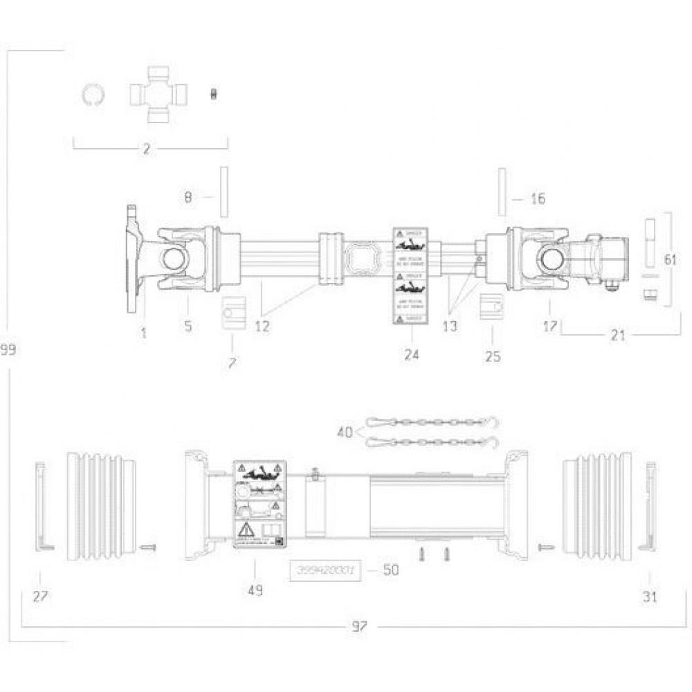 28 Transmissie 2 passend voor KUHN FC3160TLR