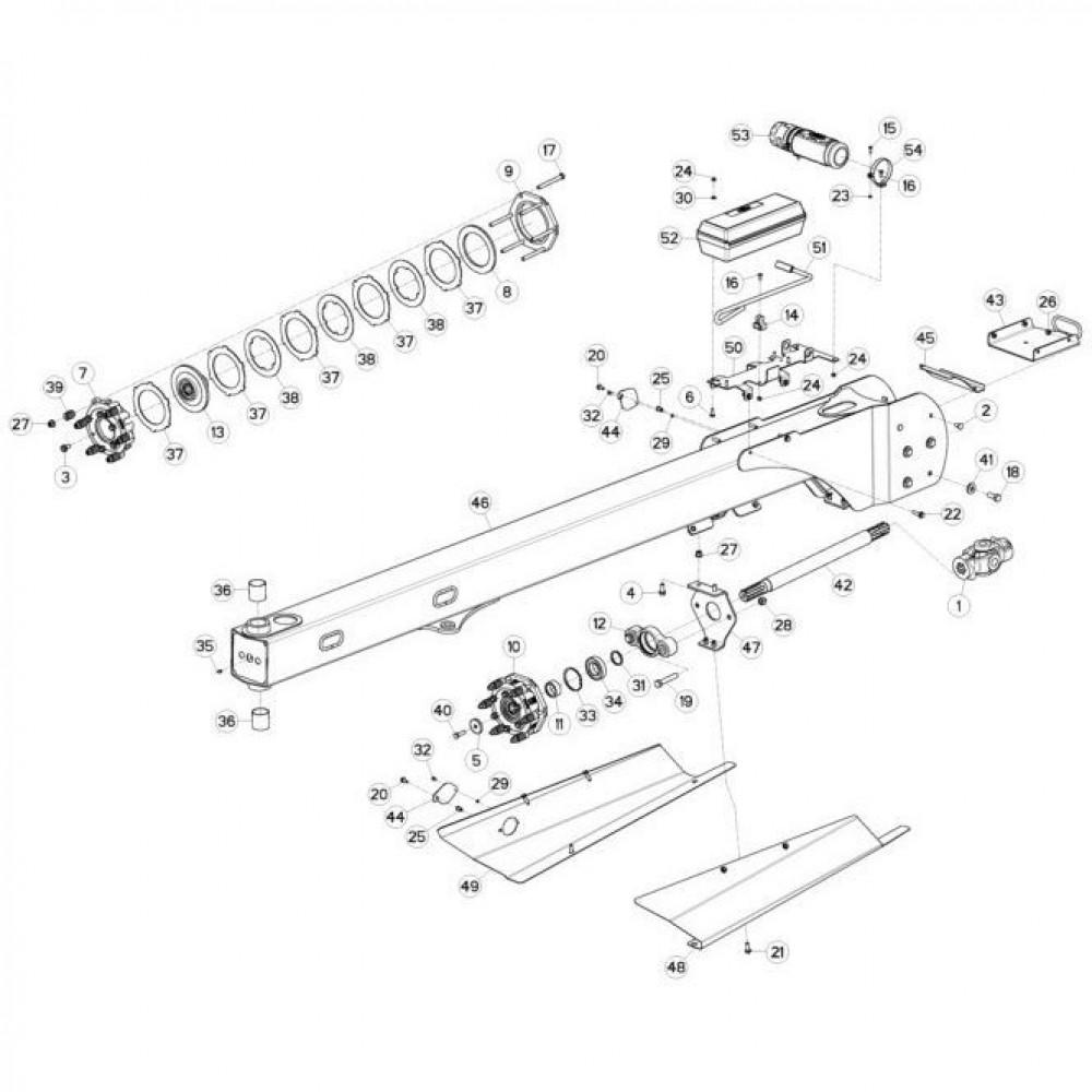 03 Trekstang passend voor KUHN FC3160TLS