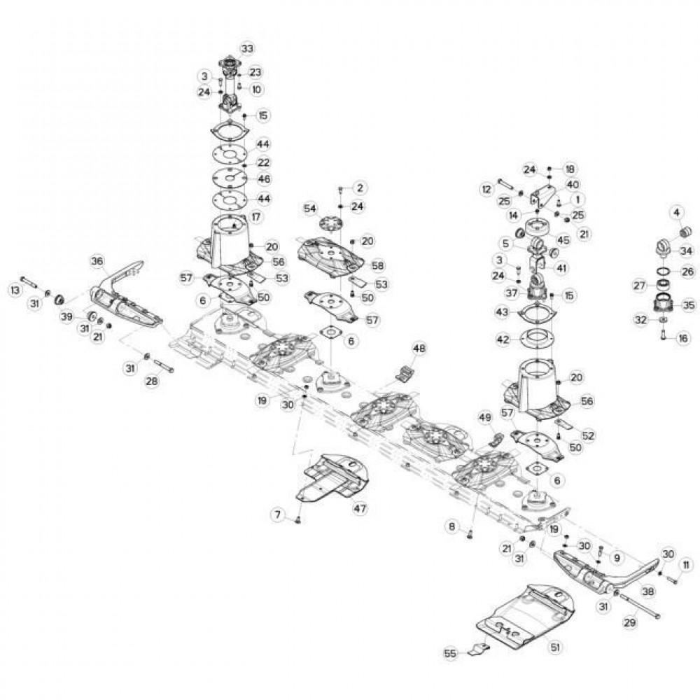 08 Schijven, beschermingen en glijplaten passend voor KUHN FC3160TLS