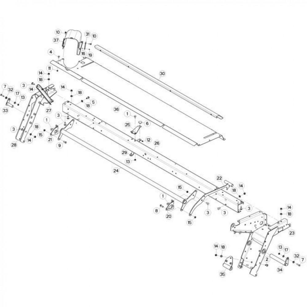 10 Frame 2 passend voor KUHN FC3160TLS