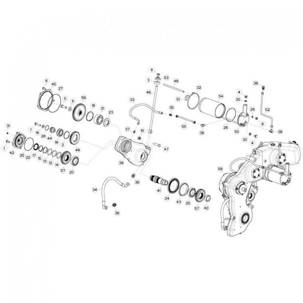 12 Tandwielkast, zijkant 2 passend voor KUHN FC3160TLS