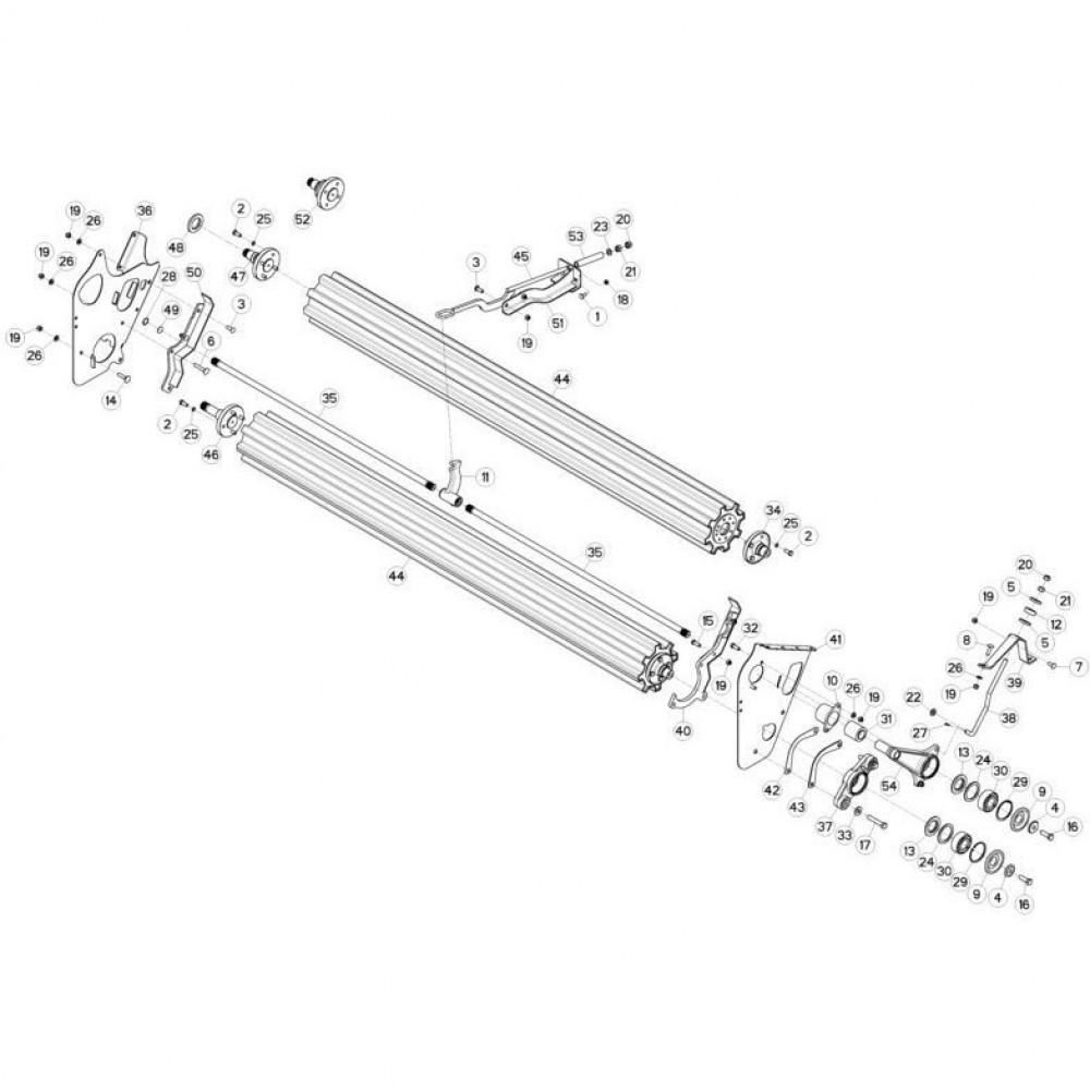 14 Rollen passend voor KUHN FC3160TLS