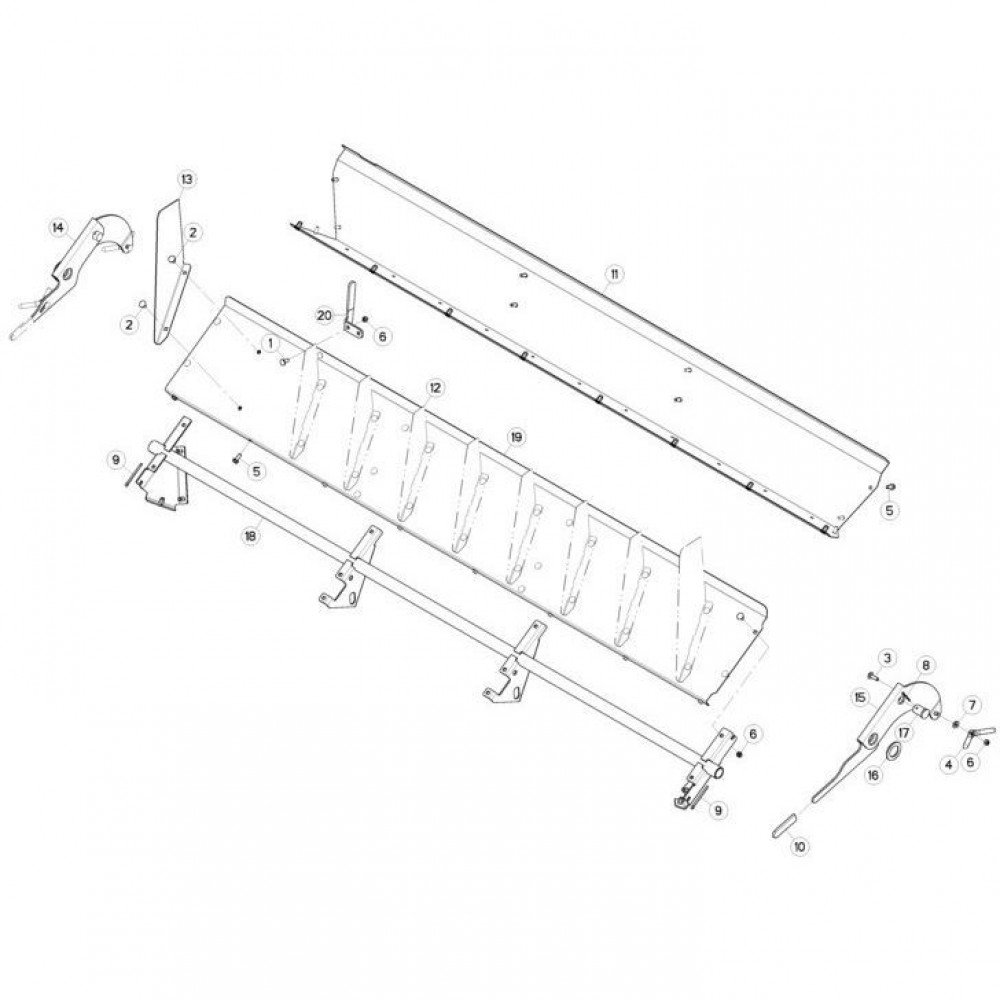 19 Deflectorset passend voor KUHN FC3160TLS