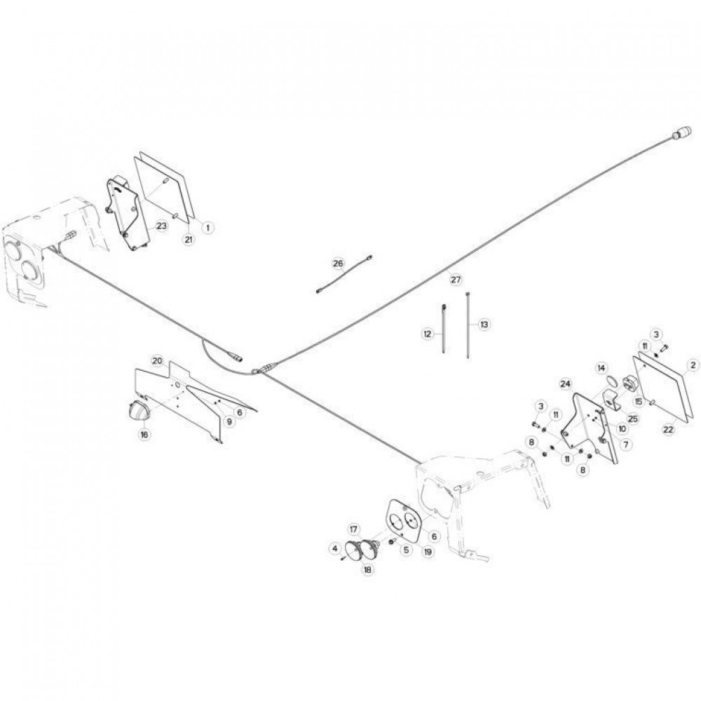 22 Verlichting passend voor KUHN FC3160TLS