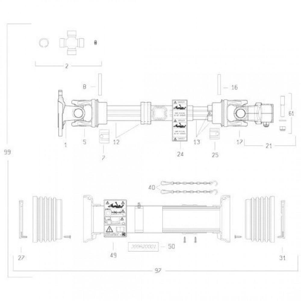 28 Transmissie 2 passend voor KUHN FC3160TLS