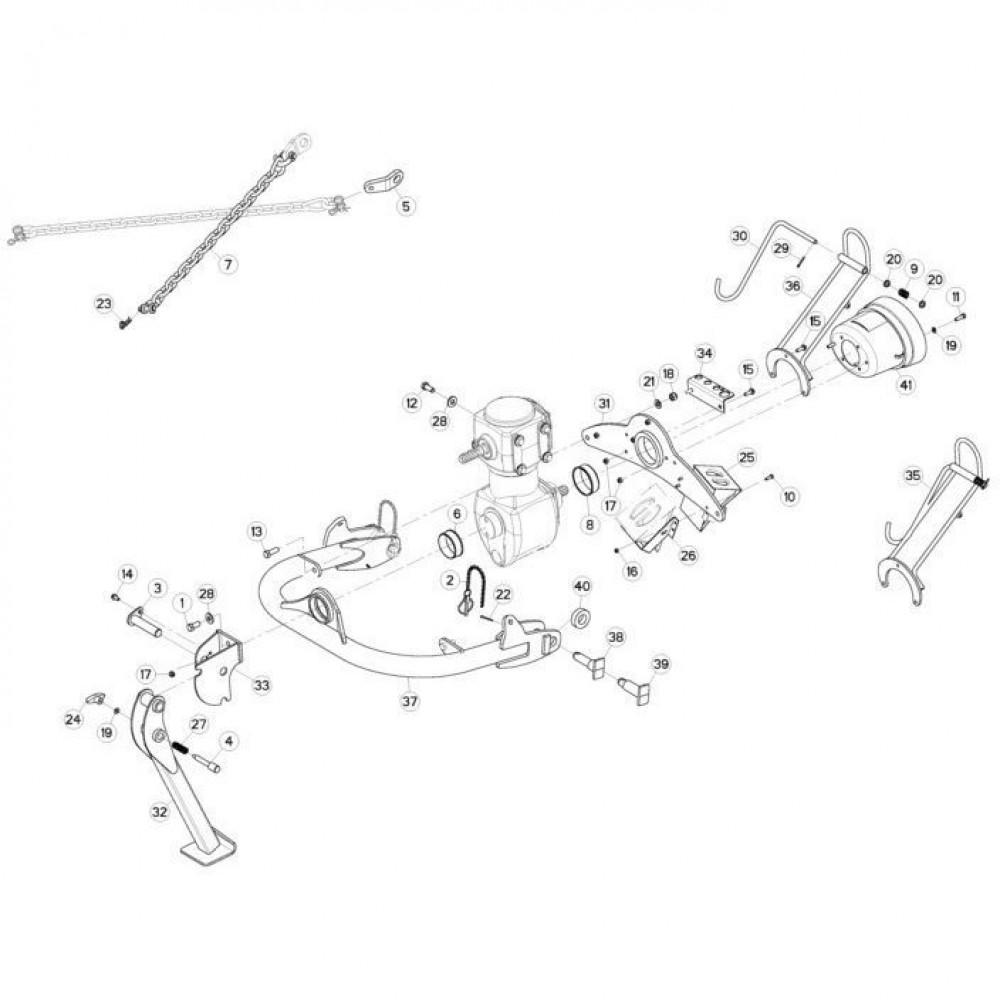 01 Trekhaak passend voor KUHN FC3160TLV