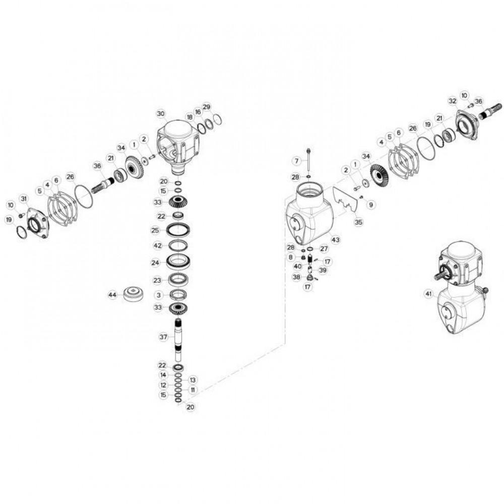 02 Gyrodine tandwielkast passend voor KUHN FC3160TLV
