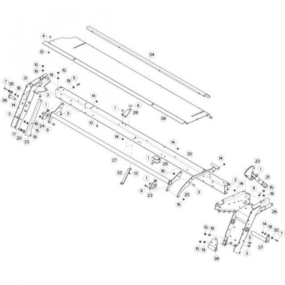 10 Frame 2 passend voor KUHN FC3160TLV