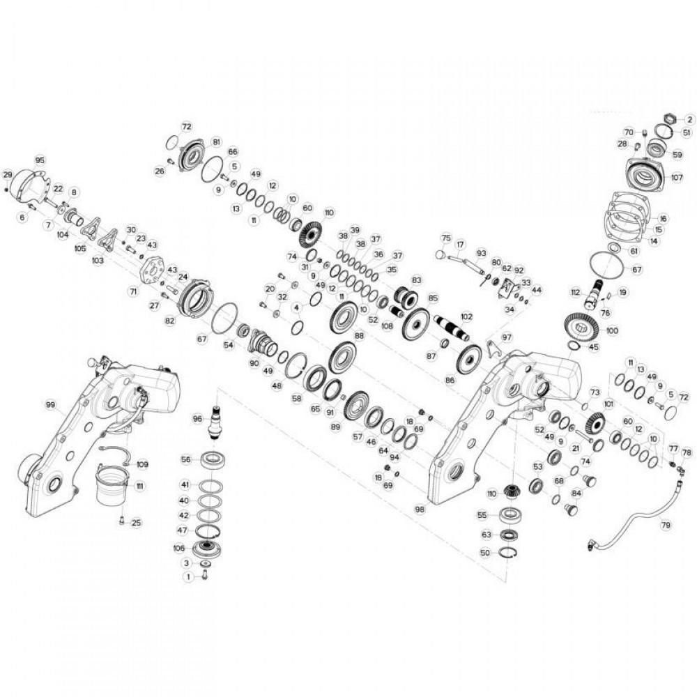 11 Tandwielkast, zijkant passend voor KUHN FC3160TLV