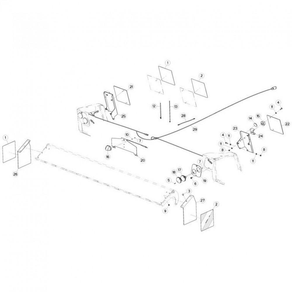 21 Verlichting passend voor KUHN FC3160TLV