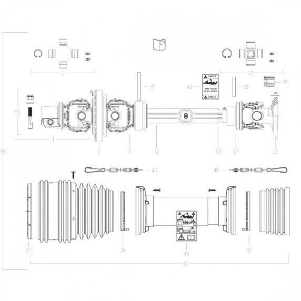27 Transmissie 2 passend voor KUHN FC3160TLV