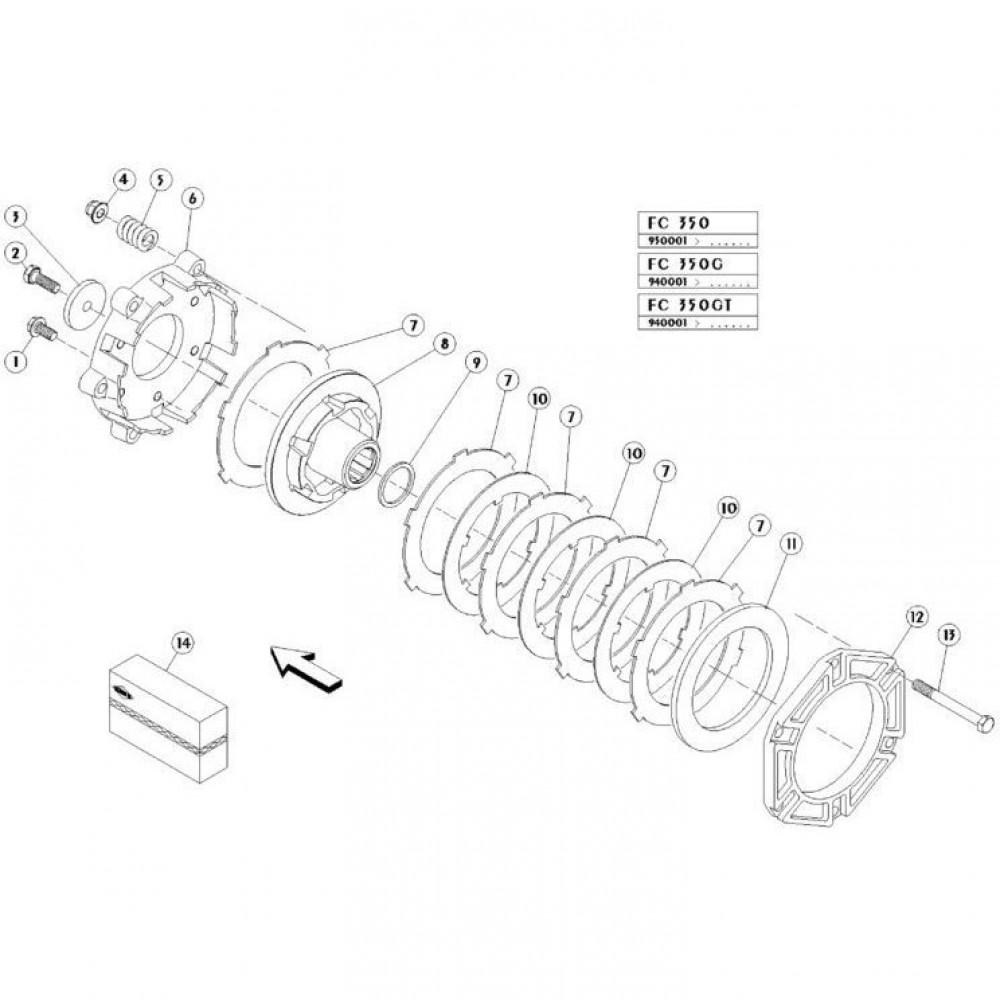 09 Koppelbegrenzende koppeling passend voor KUHN FC350