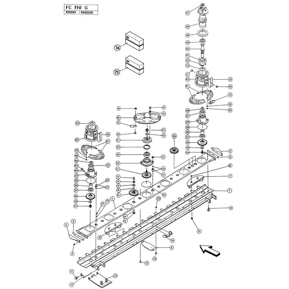 04 Maaibalk passend voor KUHN FC350G