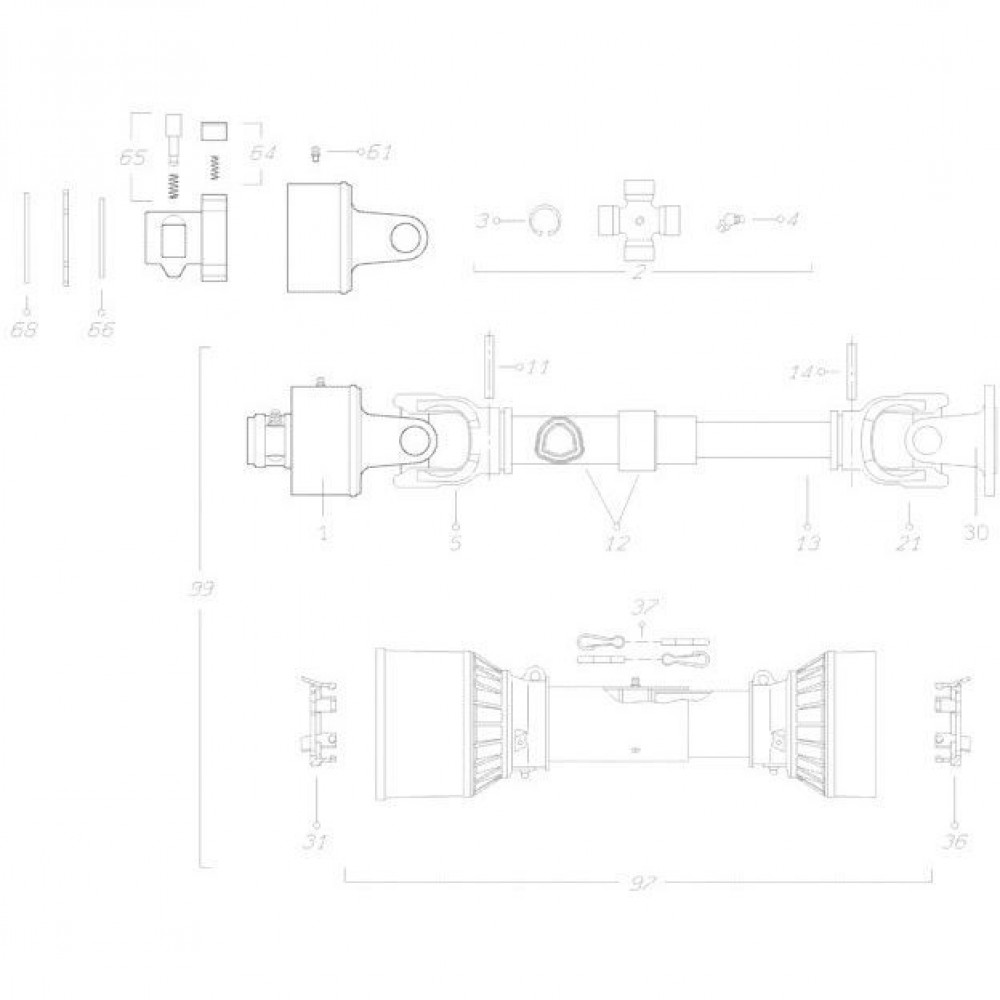 17 Transmissie 1 passend voor KUHN FC350G