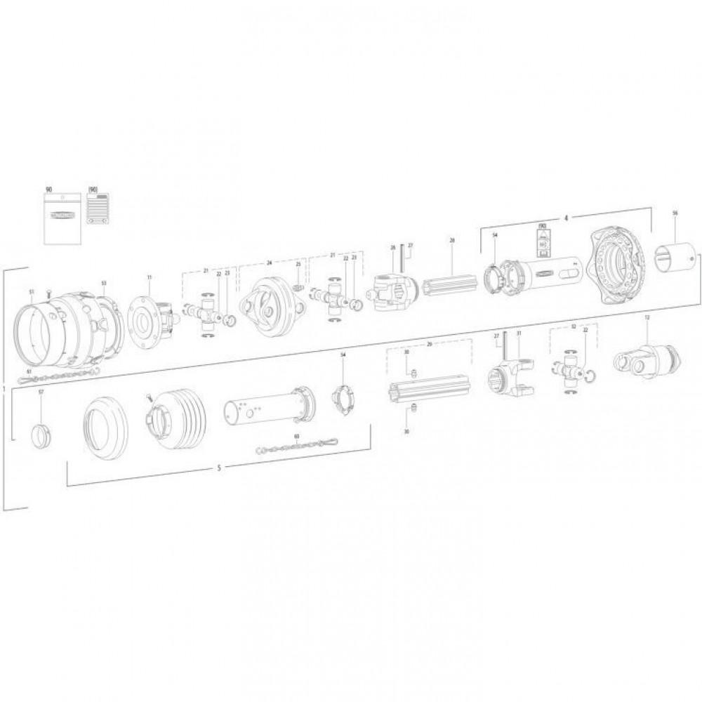 19 Transmissie 2 passend voor KUHN FC350G