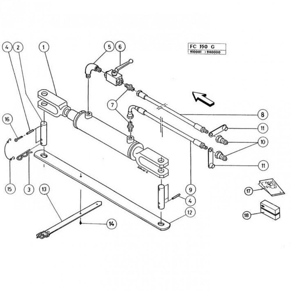 20 Hydraulische cilinder passend voor KUHN FC350G