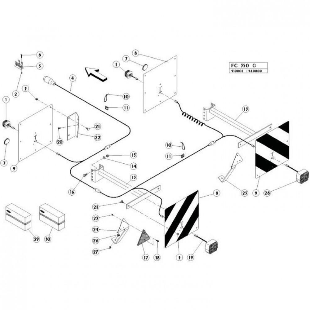 24 Verlichting passend voor KUHN FC350G