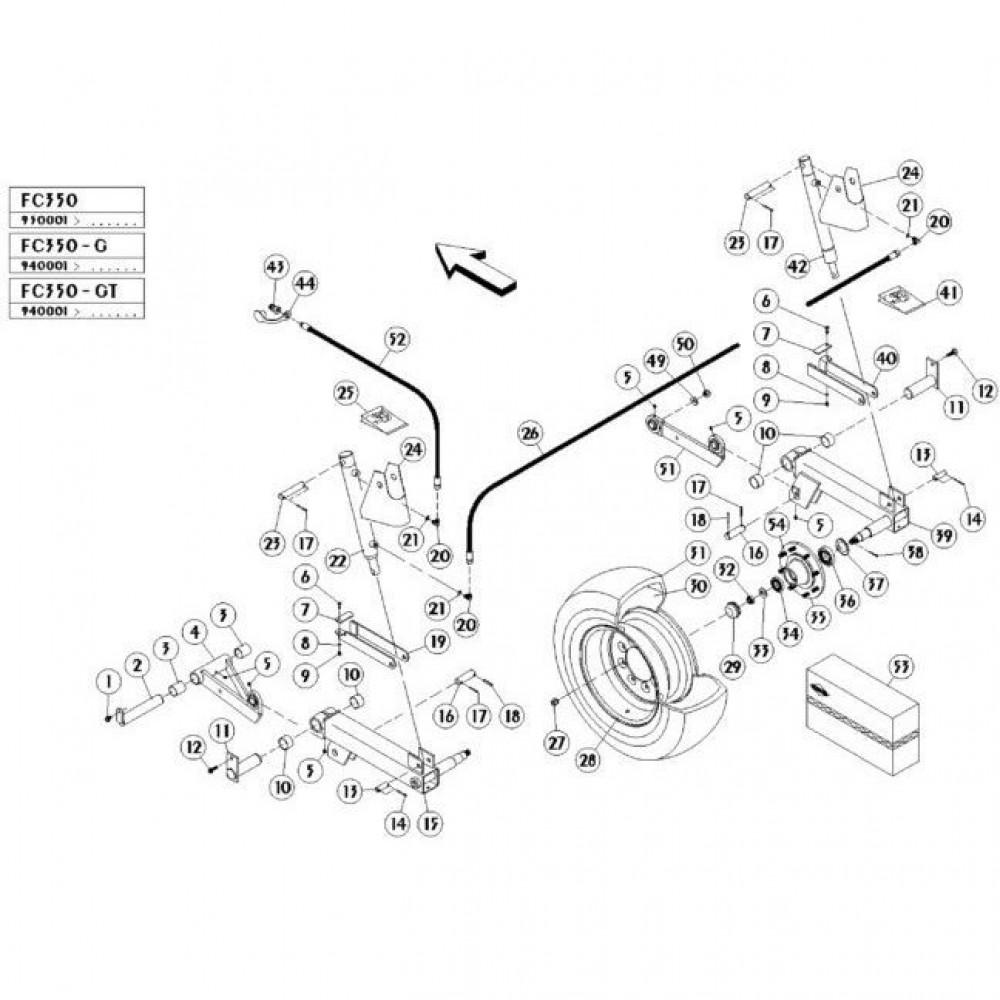 05 Hefmechanisme passend voor KUHN FC350G