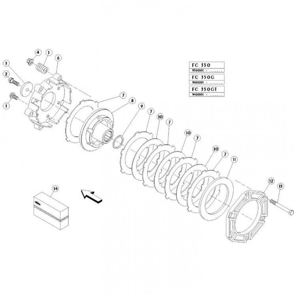 10 Koppelbegrenzende koppeling passend voor KUHN FC350G