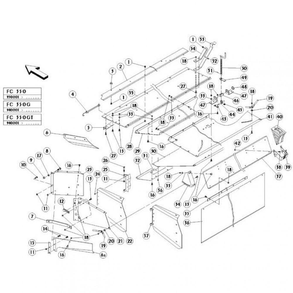 13 Conditioner kap passend voor KUHN FC350G