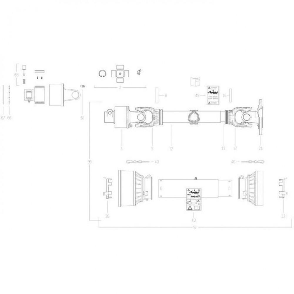 29 Transmissie 3 passend voor KUHN FC350G