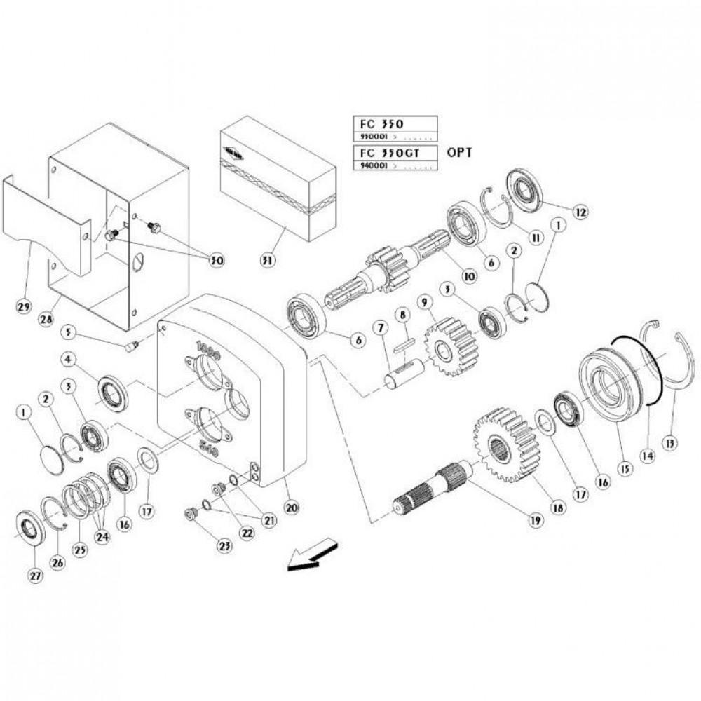 01 Trekstang passend voor KUHN FC350GT