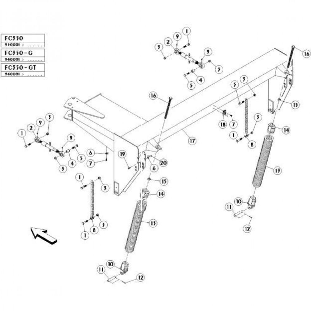 04 Frame passend voor KUHN FC350GT