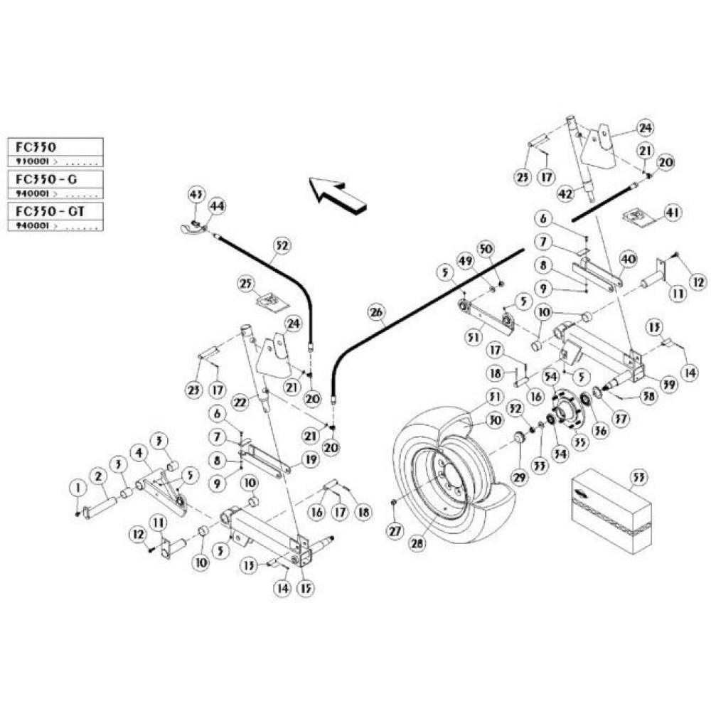 05 Hefmechanisme passend voor KUHN FC350GT
