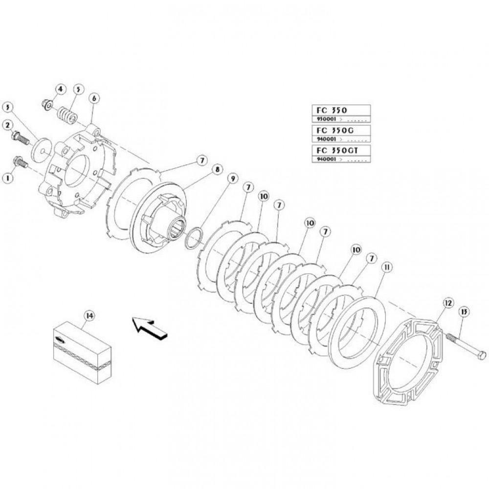 10 Koppelbegrenzende koppeling passend voor KUHN FC350GT