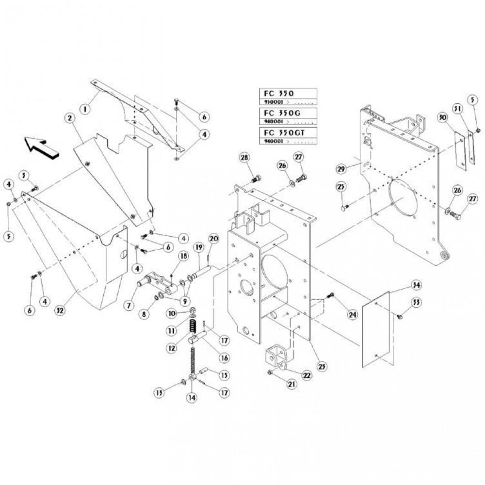 12 Zijplaten passend voor KUHN FC350GT