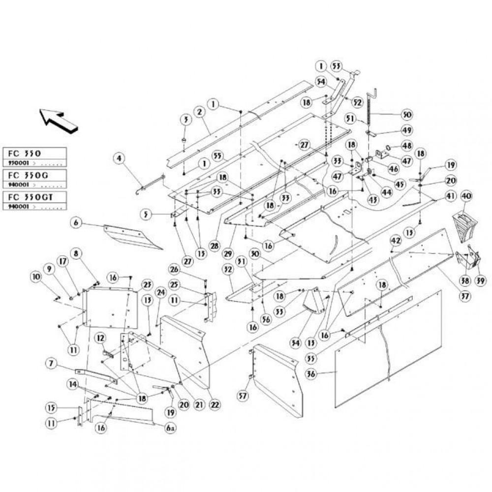 13 Conditioner kap passend voor KUHN FC350GT
