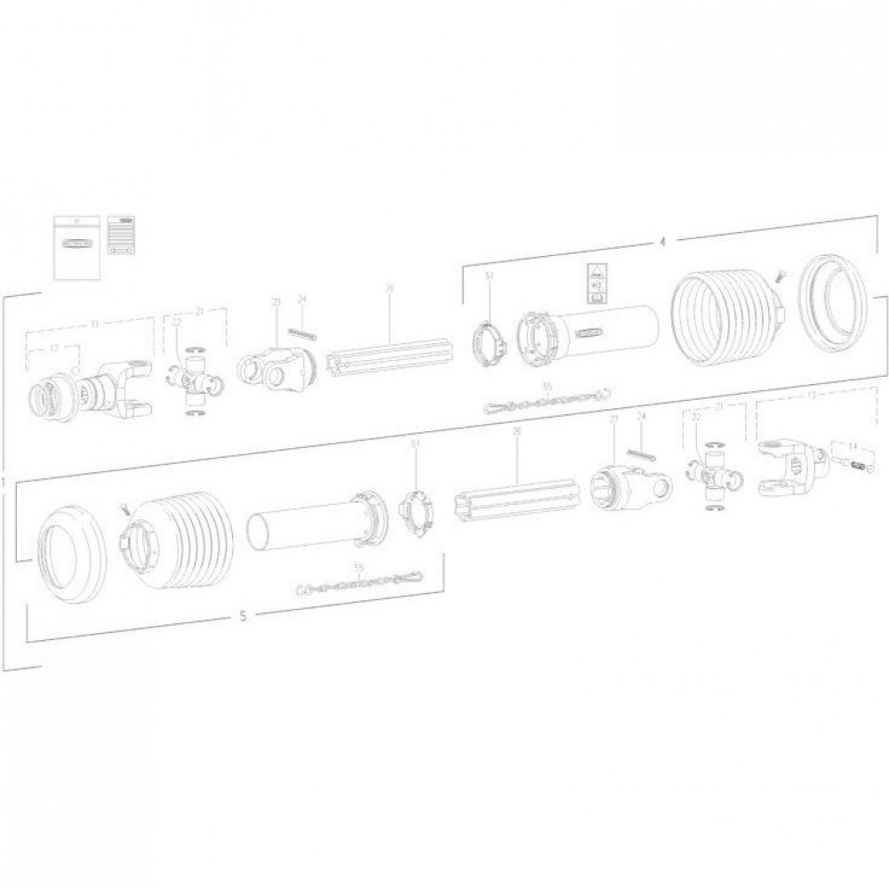 25 Transmissie 1 passend voor KUHN FC350GT