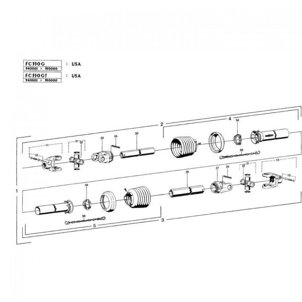 27 Hoofd-aftakas 2 passend voor KUHN FC350GT