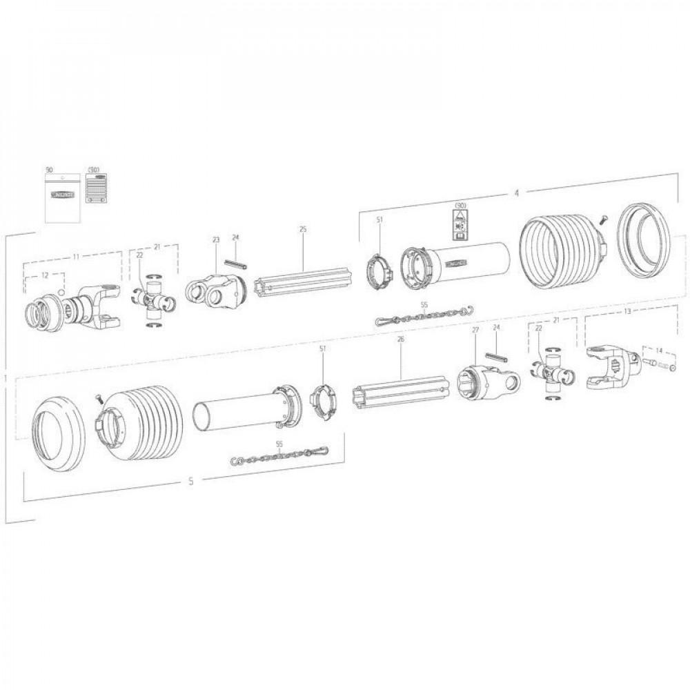28 Transmissie 2 passend voor KUHN FC350GT