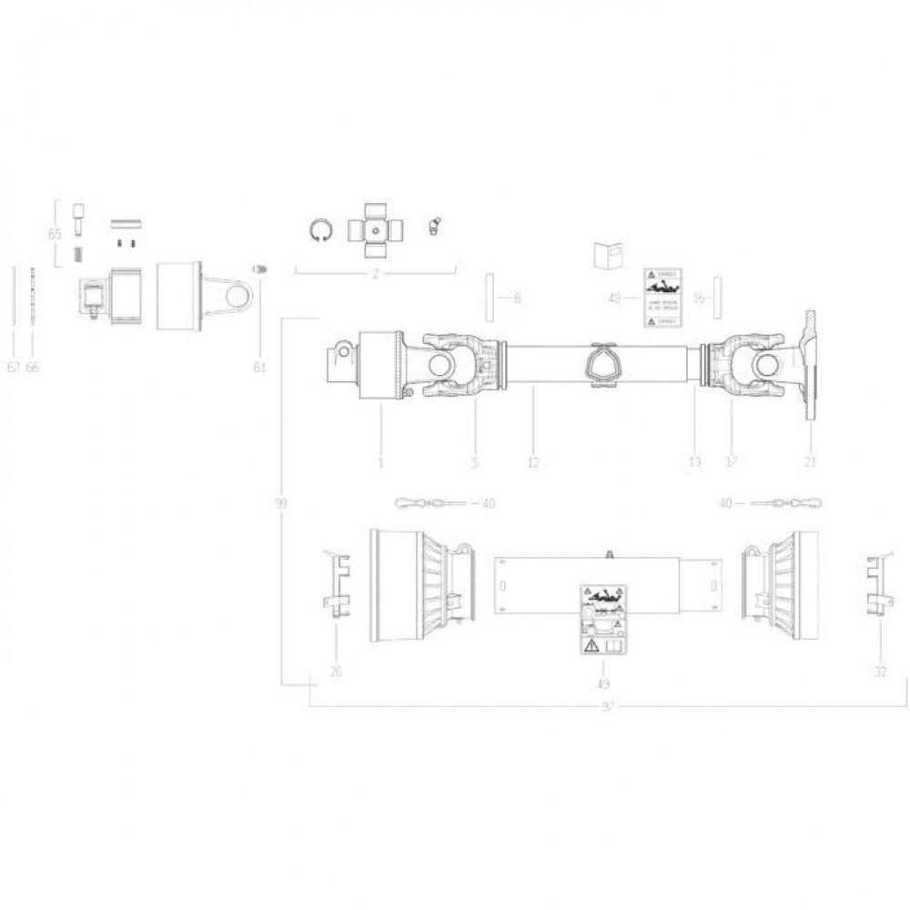 30 Transmissie 3 passend voor KUHN FC350GT