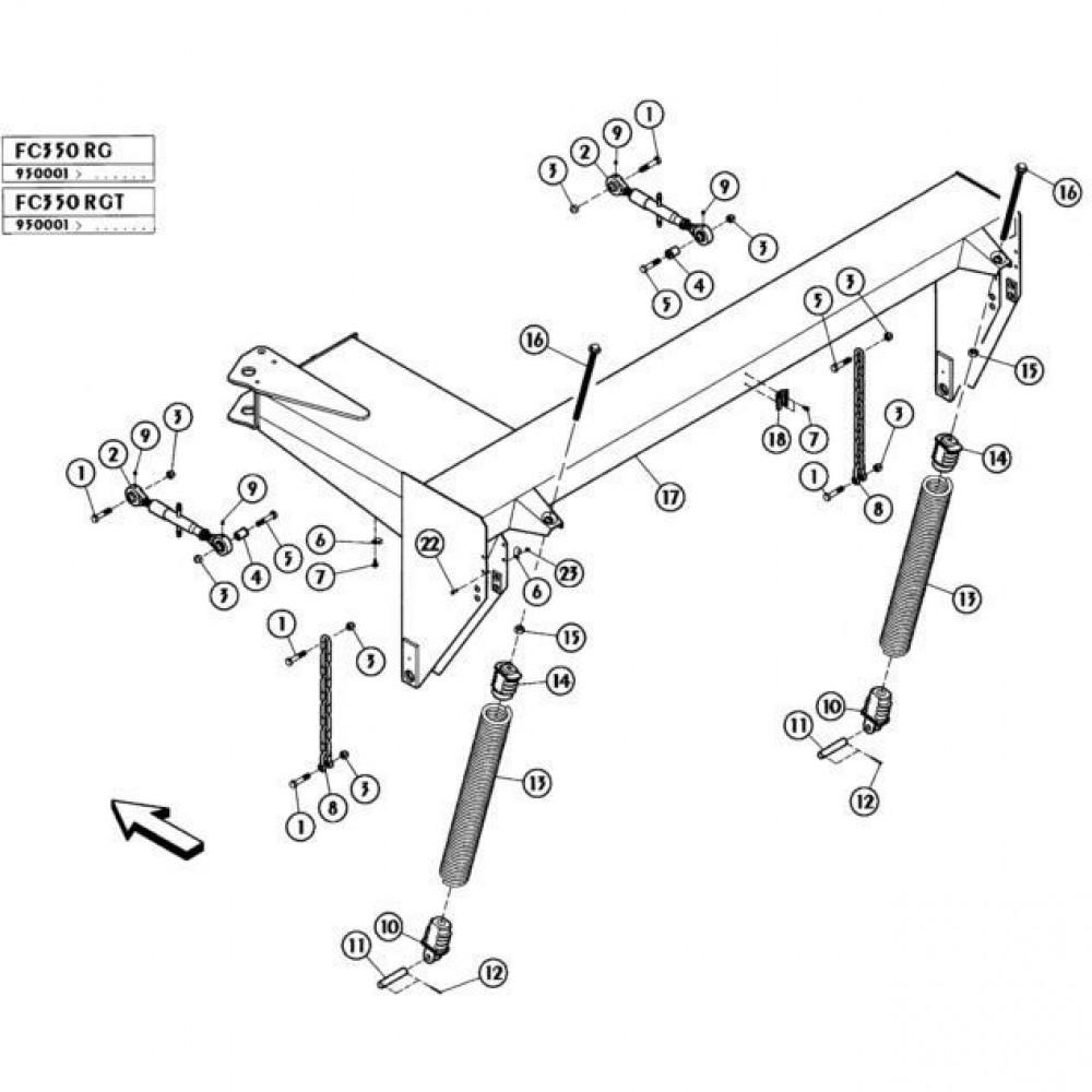 04 Frame passend voor KUHN FC350RG