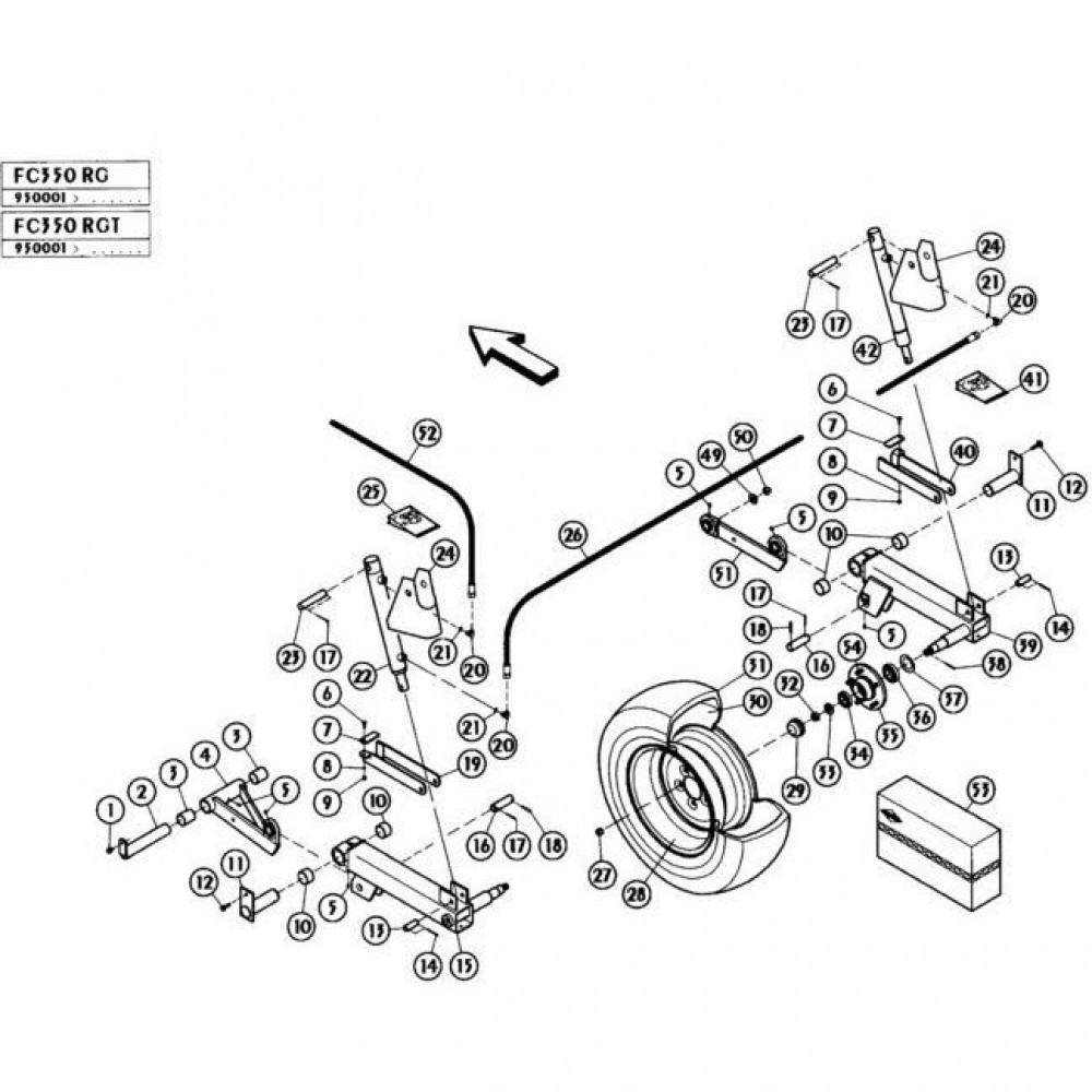 05 Hefmechanisme passend voor KUHN FC350RG